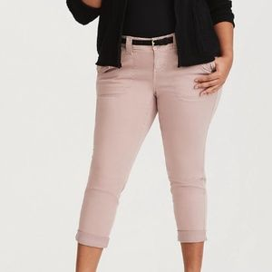 Torrid Cropped Twill Pant